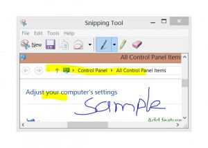 Capture screenshot with windows snipping tool